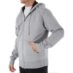 Champion S0891 Powerblend Fleece Full Zip Hoodie (Oxford Grey M) found on Bargain Bro Philippines from hisroom.com for $33.60