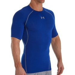 Under Armour 1257468 HeatGear Armour Compression Short Sleeve Shirt (Royal/Steel L)