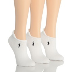 Ralph Lauren 7470 RL Sport Heel Tab Cushion Sole Sock - 3 Pair Pack (White O/S) found on Bargain Bro India from herroom.com for $15.00