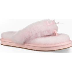UGG 1100250 Fluff Flip Flop (Seashell Pink Shoe 8) found on Bargain Bro India from herroom.com for $80.00