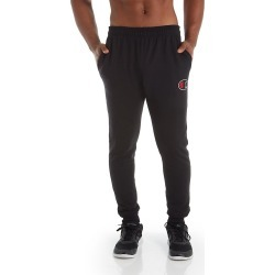 Champion GF22H Graphic Powerblend Fleece Jogger with Applique (Black L) found on Bargain Bro India from hisroom.com for $31.50