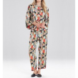 Natori E82631 Dynasty 26 Inch PJ Set (Black M) found on Bargain Bro from herroom.com for USD $121.60