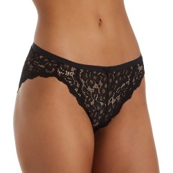 Maidenform DMCLBK Sexy Must Haves All Over Lace Bikini Panty (Black 6) found on Bargain Bro India from herroom.com for $8.40