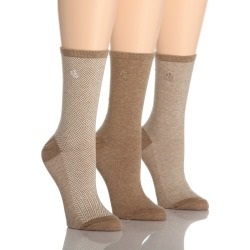 Ralph Lauren 34004 Tweed Cotton Trouser Socks - 3 Pair Pack (Tobacco Heather O/S) found on MODAPINS from herroom.com for USD $17.00