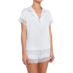 Eberjey PJ1636S Malou The Lace Short PJ Set (Water Blue M) found on Bargain Bro India from herroom.com for $122.00