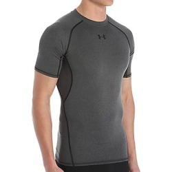 Under Armour 1257468 HeatGear Armour Compression Short Sleeve Shirt (Carbon Heather/Black S) found on Bargain Bro India from hisroom.com for $27.98