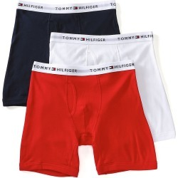 Tommy Hilfiger 09TE001 Basic 100% Cotton Boxer Brief - 3 Pack (Mahogany M) found on Bargain Bro India from hisroom.com for $39.50