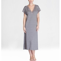 Natori M73084 Zen Floral Gown (Heather Grey 2X) found on Bargain Bro India from herroom.com for $130.00