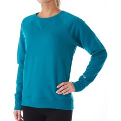Champion GF567 Powerblend Fleece Boyfriend Crew Neck Pullover (Jade XS)