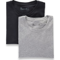 Under Armour 1300000 Cotton Stretch Crew Neck T-Shirts - 2 Pack (Grey Heather/Black L) found on Bargain Bro India from hisroom.com for $39.98