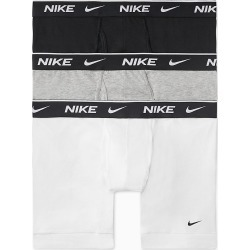 Nike KE1107 Everyday Stretch Boxer Briefs w/ Fly - 3 Pack (White/Grey/Black XL) found on Bargain Bro India from hisroom.com for $35.00
