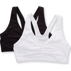 Hanes MHH570 ComfortBlend with X-Temp Pullover Bra - 2 Pack (White/Black M) found on Bargain Bro Philippines from herroom.com for $11.20