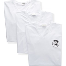 Diesel SHGUTANL Michael Cotton Stretch V Neck T-Shirts - 3 Pack (Bright White S) found on Bargain Bro Philippines from hisroom.com for $44.00