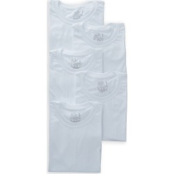 Fruit Of The Loom 5P28BS Beyond Soft Crew Neck T-Shirts - 5 Pack (White S)