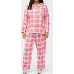 UGG 1095589 Plus Size Raven Plaid PJ Set (Claret Red Plaid 2X) found on Bargain Bro Philippines from herroom.com for $54.95