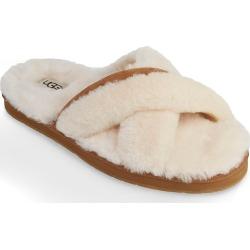 UGG 1017548 Abela Fluff Slide Slipper (Natural Shoe 6) found on Bargain Bro Philippines from herroom.com for $79.95
