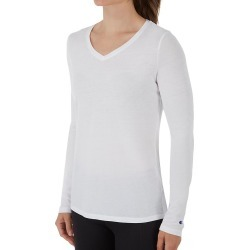 Champion W3138 Authentic Wash Long Sleeve Tee (White L) found on Bargain Bro India from herroom.com for $25.00