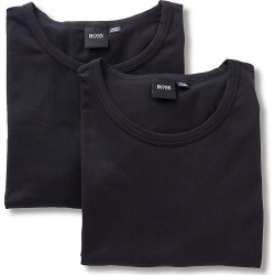Boss Hugo Boss 0325407 Essential Cotton Stretch Slim Fit Crew - 2 Pack (Black XL) found on MODAPINS from hisroom.com for USD $42.00