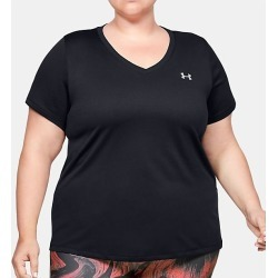 Under Armour 1353757 UA Plus Size Tech Solid Short Sleeve T-Shirt (Black 2X) found on Bargain Bro India from herroom.com for $24.98