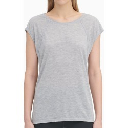 Calvin Klein PF9T359 Cap Sleeve Tee with Strappy Back (Pearl Grey Heather L) found on Bargain Bro India from herroom.com for $29.25