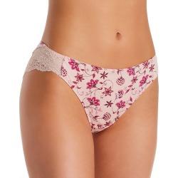 Maidenform 40159 Comfort Devotion Lace Back Tanga Panty (FloralEmbroiderySPPink 7)