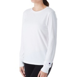 Champion GT17H Classic Long Sleeve Crew Neck Tee (White 2X)