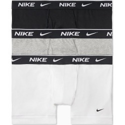 Nike KE1108 Everyday Stretch Boxer Trunks w/ Fly - 3 Pack (White/Grey/Black S) found on Bargain Bro India from hisroom.com for $35.00