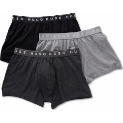 Boss Hugo Boss 0325383 Essential 100% Cotton Trunks - 3 Pack (Charcoal/Black/Grey L) found on MODAPINS from hisroom.com for USD $39.00