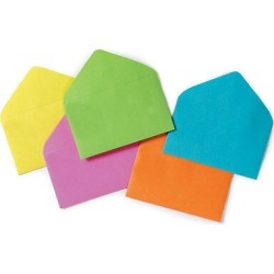 "120ct. Six-color Assorted Florist Enclosure Card Envelopes Small 2-1/2"" X 4-1/4"""