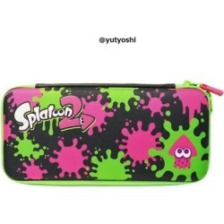 Hori Splatoon 2 Hard Pouch For Nintendo Switch Ink X Squid