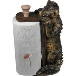 Alligator Paper Towel Holder Cabin Home Decor, Also Deer, Lab,horse, Moose,duck