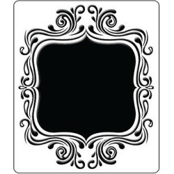 "Crafts Too Embossing Folder ""fancy Frame"" Ctfd4021 For Cards"