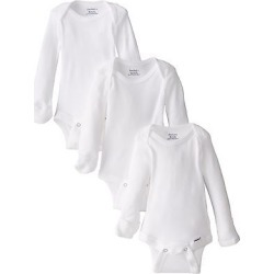 Gerber Unisex Baby 3 Pack Long-sleeve Onesies With Mitten Cuffs White