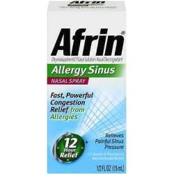 Afrin Allergy Sinus Nasal Spray 0.50 Oz (pack Of 5)