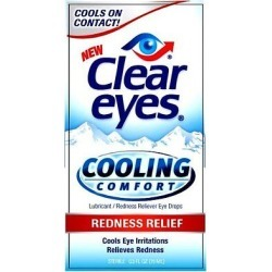 Clear Eyes Cooling Comfort Redness Relief Drops - 0.5 Oz (3 Pack)