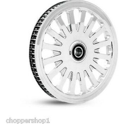"Chrome Dna 68t Super Spoke Rear Cush Pulley 1"" Harley Touring Flh/flt Baggers"