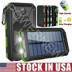 Waterproof 500000mah Dual Usb Portable Solar Charger Solar Power Bank For Phone found on Bargain Bro from  for $12.99
