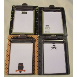 "Halloween Mini Clipboard W/paper - Size 3 1/4"" X 4"" - 4 Different - U Pick"