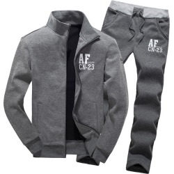 Men's Winter Warm Athletic Apparel Sport Suit Set Hoodie Jacket Activewear