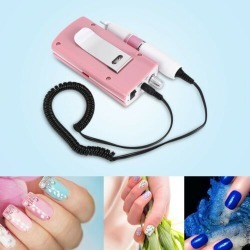 Nail Manicure Tools Pedicure File Electric Polisher Machine With 6 Griding Bits