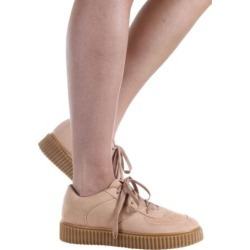Suede Perforated Sneaker Women Tackle-02-07 Qupid Toffee