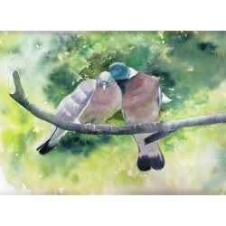 Watercolor Cards British Bird Cards 4 Fieldfare Bird Cards Blank Notecard Set Cards for Bird lover Birthday Cards found on Bargain Bro from  for $12.59