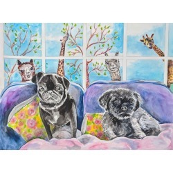 Custom Pet Portraits, dog mom gift mother's day gift Dog Portrait, Pet Painting, Dog Painting, Cat Portrait cat lovers Dog Portrait Painting found on Bargain Bro from  for $120