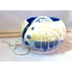Blue Coneflower Knitting Bowl, found on Bargain Bro from  for $34