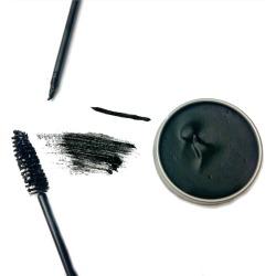 Black Vegan Zero Waste Cake Mascara, Organic Mascara, Zero Waste Eyeliner, Plastic Free Makeup, Cruelty Free, Mothers Day Gift found on Bargain Bro from  for $11.25