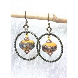 Rustic Lampwork Glass Earrings, found on Bargain Bro from  for $34.99