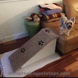 """Free Shipping   Dog Ramp   18""""H X 14""""W X 34""""L   For Pets 2-40 Lbs   Choose Any Color   Made in USA   Dog Ramp For Bed   Wood Dog Ramp found on Bargain Bro from  for $169"""