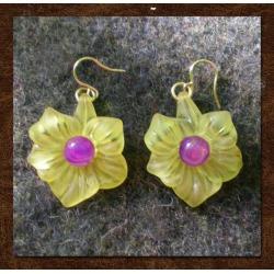 Yellow Trumpet Flower Earrings Flower Earrings Yellow | Etsy found on Bargain Bro from  for $9.5