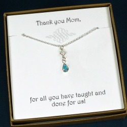 Mom Birthstone Necklace | Mom Gift for Birthday, Mother's Day, Christmas, Wedding | Mother In Law Gift | Meaningful Gifts for Mom | Mom found on Bargain Bro from  for $35