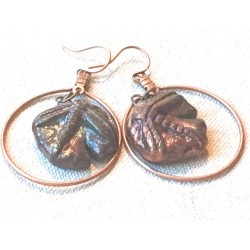 Copper and Porcelain Dragonfly Earrings, found on Bargain Bro from  for $25.99